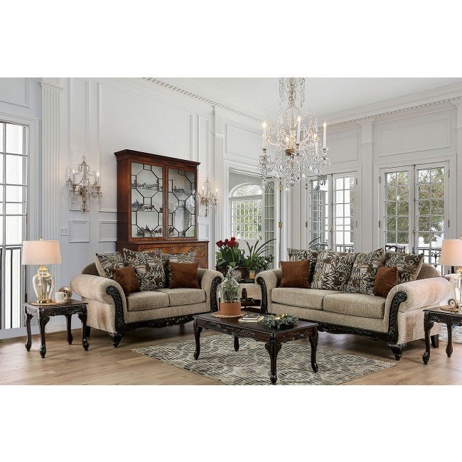Saoirse Living Room Set (Tan)