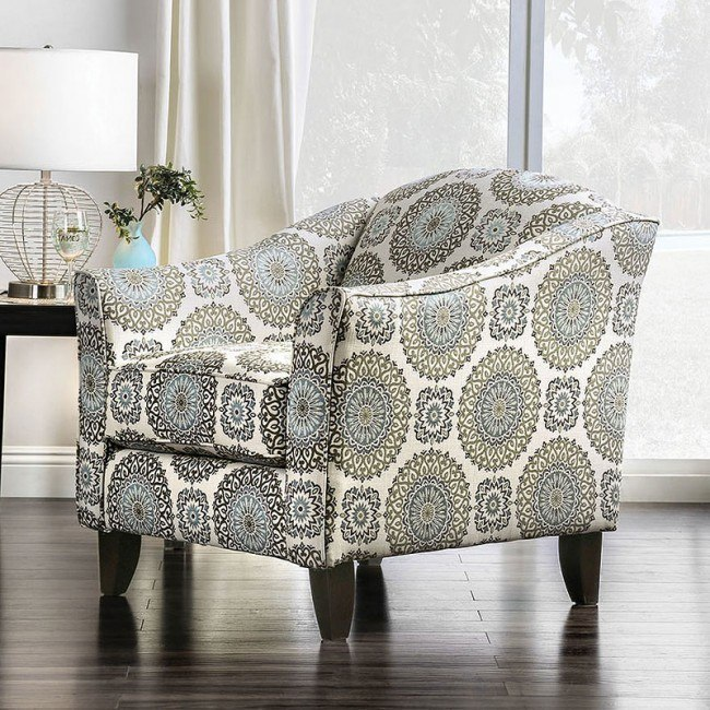 Misty Floral Chair