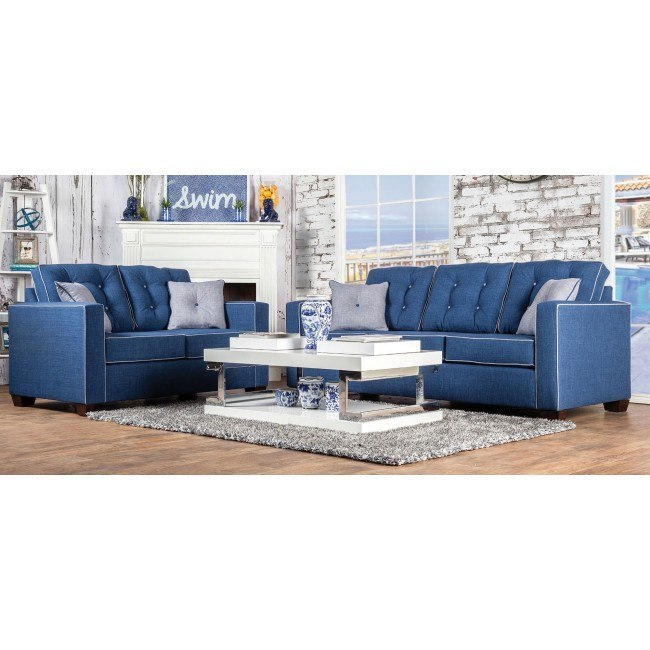 Ravel I Living Room Set (Blue)