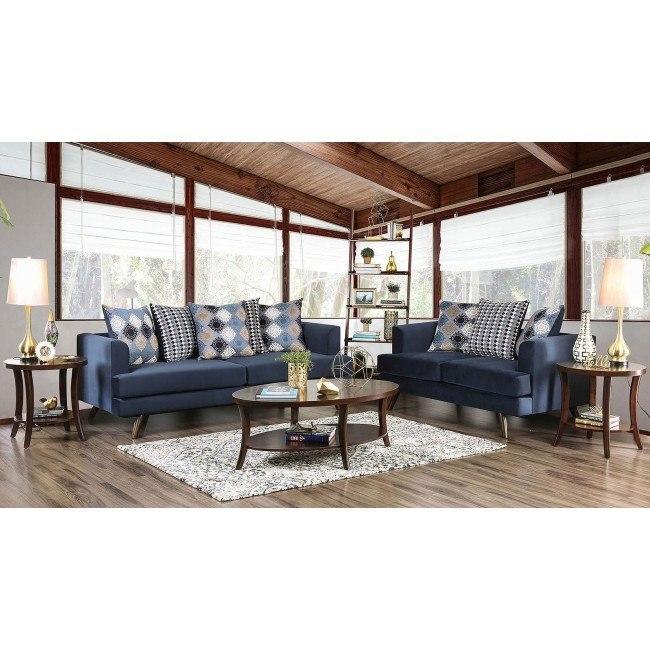 Blaenavon Living Room Set (Blue)