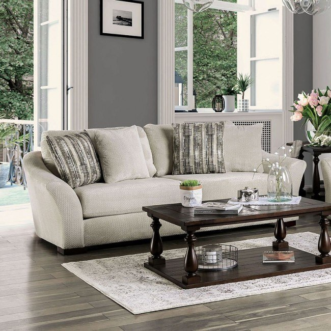 Oacoma Sofa Off White By Furniture Of America Furniturepick