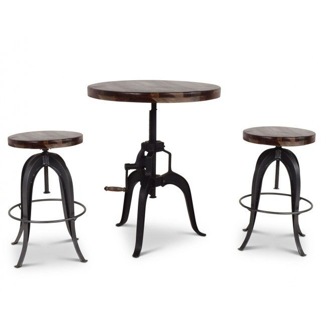 Sparrow Adjustable Height Crank Table Set