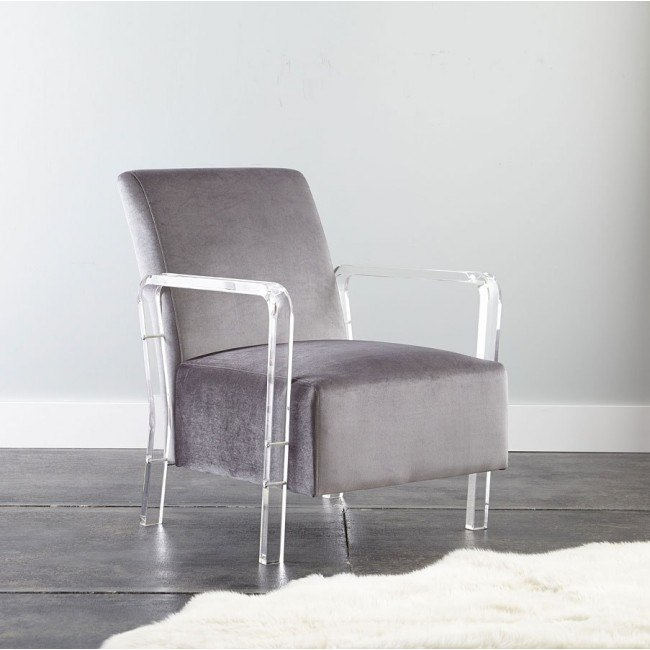 Awe Inspiring Tyra Accent Chair Grey Andrewgaddart Wooden Chair Designs For Living Room Andrewgaddartcom
