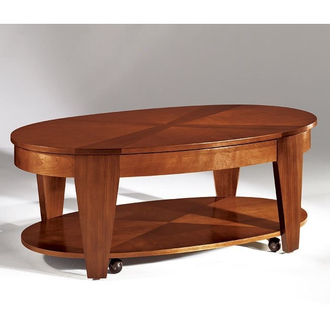 Oasis Oval Lift Top Tail Table