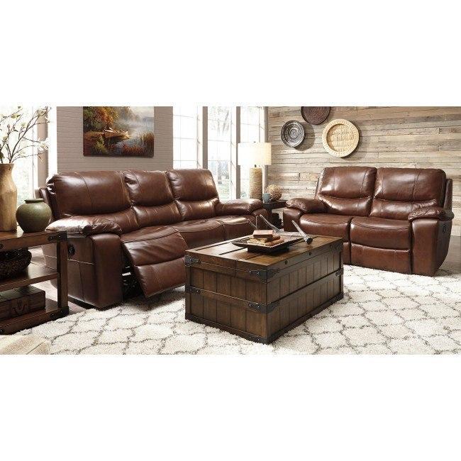 Penache Saddle Reclining Living Room Set