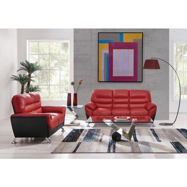 U9105 Red and Black Living Room Set by Global Furniture, 1 Review(s ...