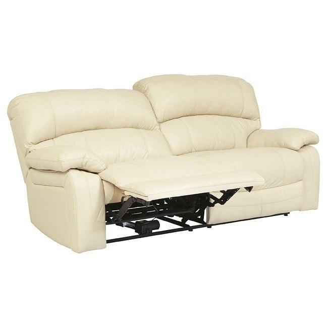 Damacio Cream Reclining Sofa w/ Power