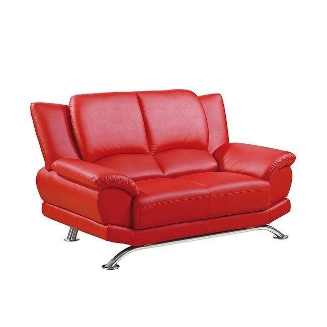 U9908 Red Modern Loveseat