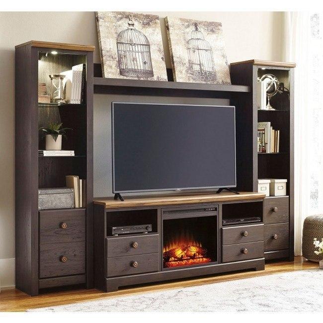 Maxington Entertainment Wall w/ Fireplace
