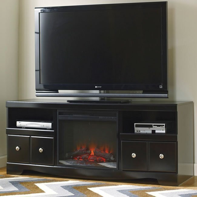 Shay Large Tv Stand W Fireplace By Signature Design Ashley Furniturepick