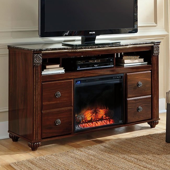 Gabriela Large Tv Stand W Fireplace By Signature Design By Ashley