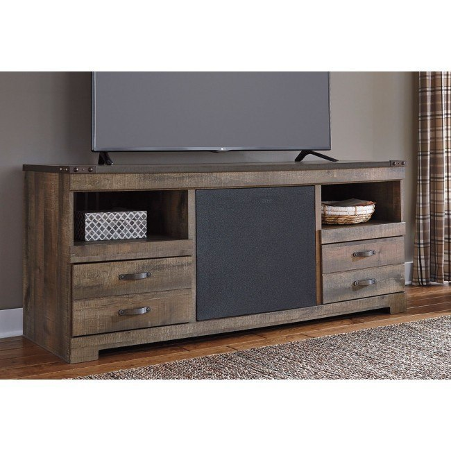 Trinell Large TV Stand w/ Integrated Audio