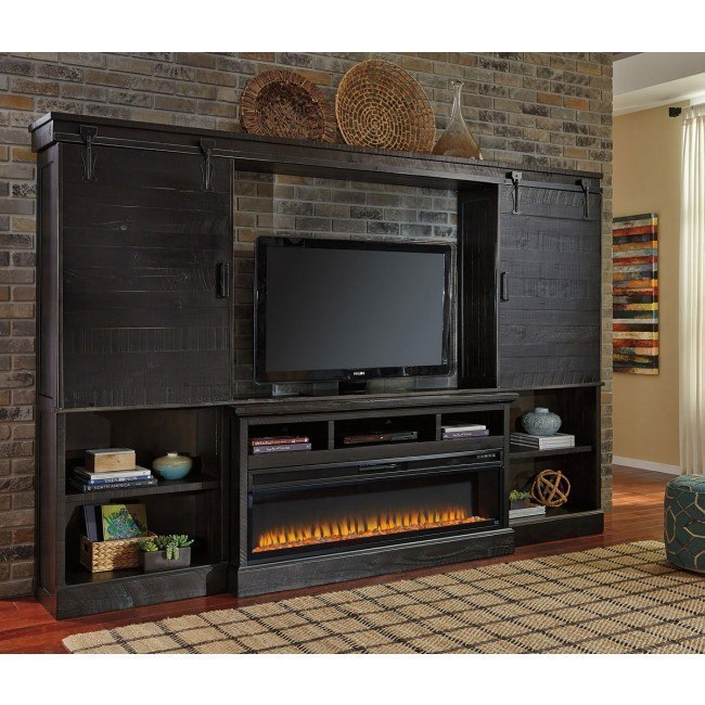 Sharlowe Entertainment Wall w/ Electric Fireplace