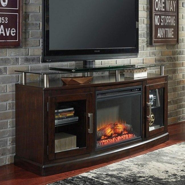 Chanceen Medium TV Stand w/ Fireplace