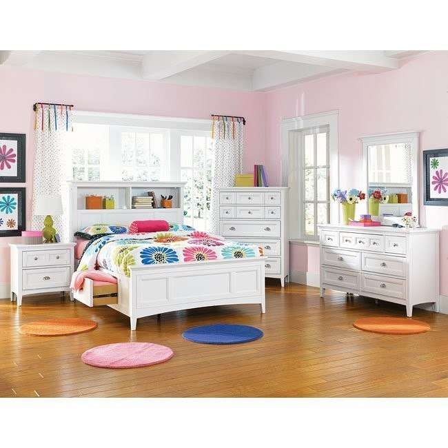 Kenley Bookcase Storage Bedroom Set