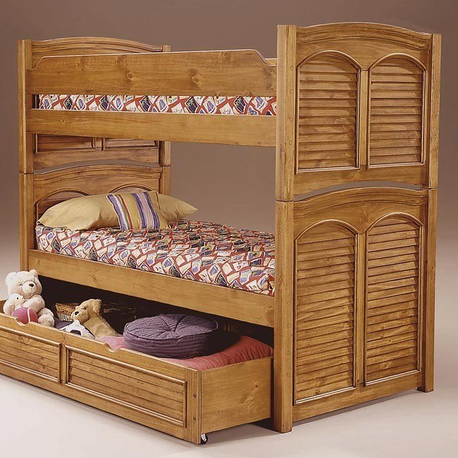 Cottage Traditions Twin/Full Bunk Bed (Sandstone)