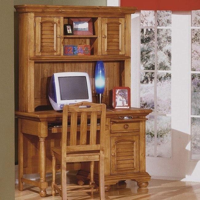 Cottage Traditions Computer Desk w/ Hutch (Sandstone)
