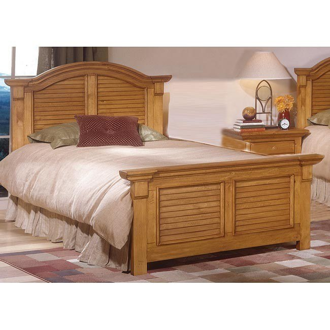 Cottage Traditions Panel Bed (Sandstone)