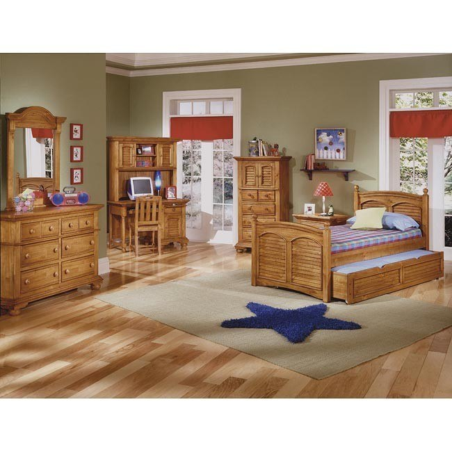 Cottage Traditions Youth Poster Bedroom Set (Sandstone)
