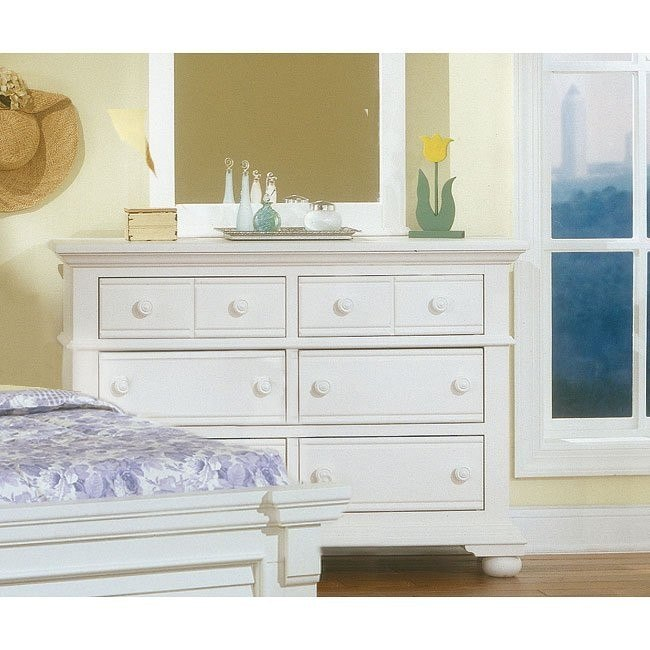 Cottage Traditions Double Dresser (White)