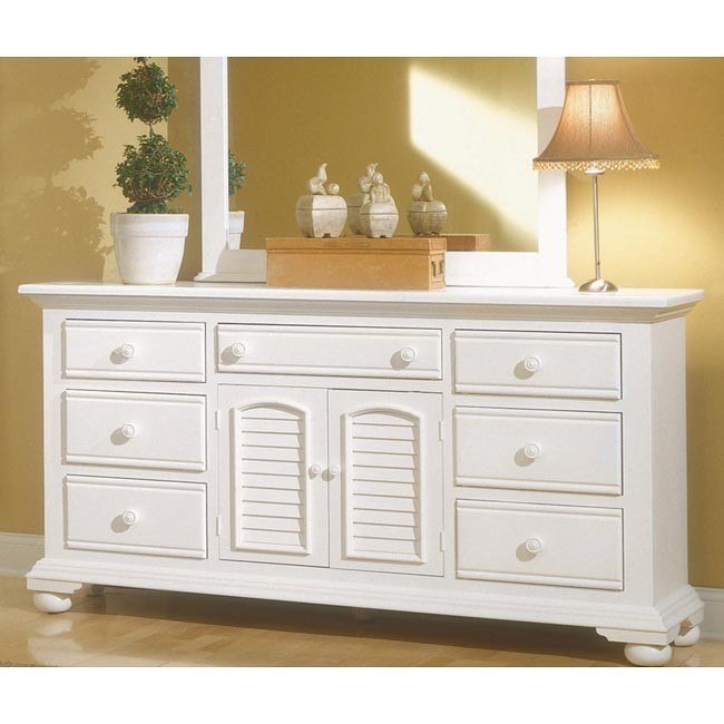 Cottage Traditions Triple Dresser (White)