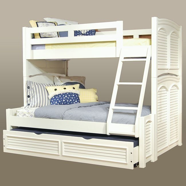Cottage Traditions Twin/Full Bunk Bed (White)