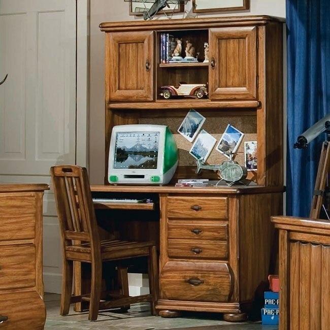 Timberline Computer Desk w/ Hutch