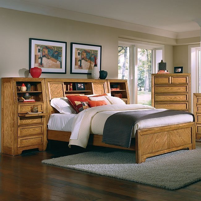 Casual Home Bookcase Bed