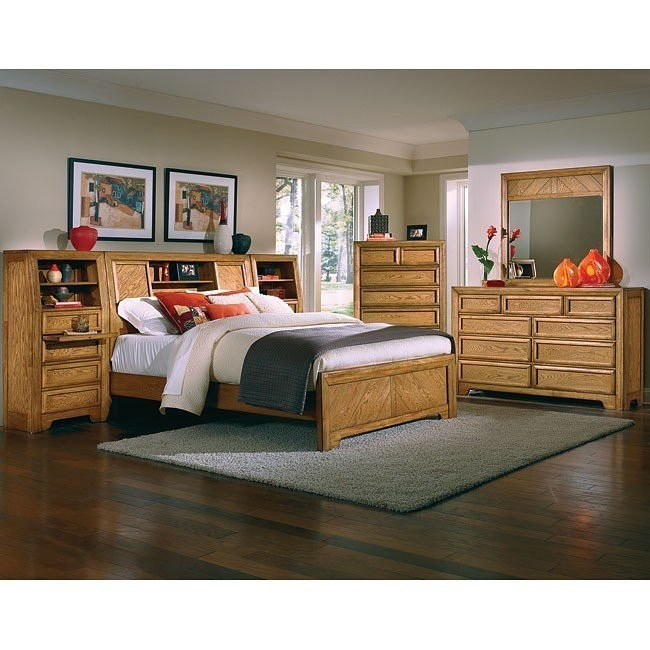 Casual Home Bookcase Bedroom Set