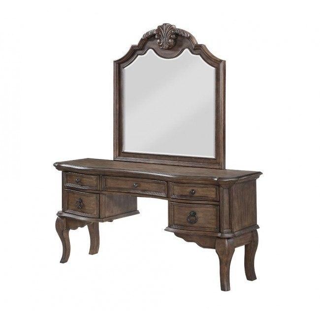 Tulsa Vanity Desk W/ Mirror Avalon Furniture