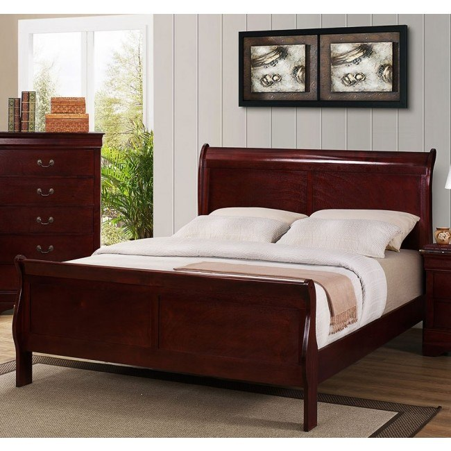 Louis Philip Sleigh Youth Bed (Cherry)