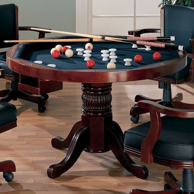 Mitchell Poker/ Bumper Pool Game Table (Cherry)