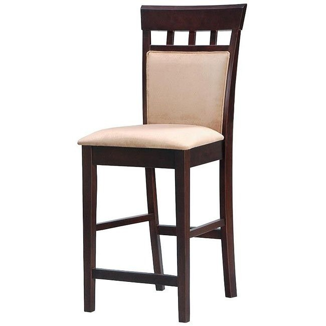 Mix and Match Upholstered Back 24 inch Barstool (Cappuccino) (Set of 2)