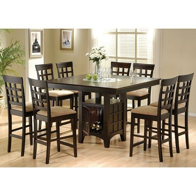 Mix and Match Counter Height Dinette w/ Three Chair Choices (Cappuccino)