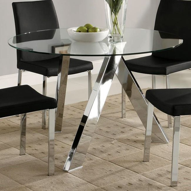 Vance Chrome Base Dining Table