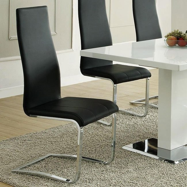 Modern Dining Chair (Black) (Set of 4)
