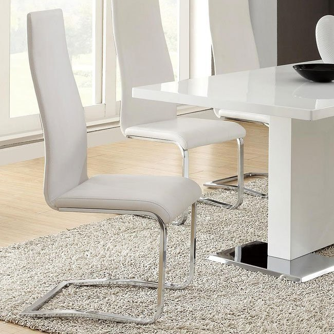 Modern Dining Chair (White) (Set of 4)