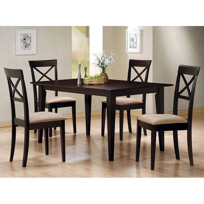 Mix and Match Dining Room Set with Cross Back Chairs ...