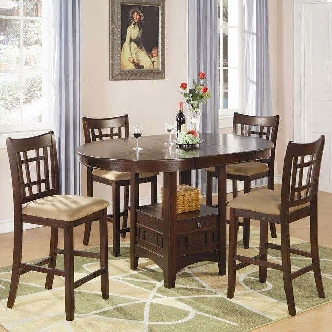 Lavon Counter Height Dining Room Set (Cherry)