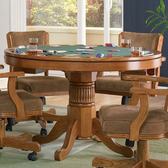 Mitchell Poker/ Bumper Pool Game Table (Oak)