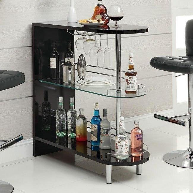 10106 Series Modern Bar Table (Black)