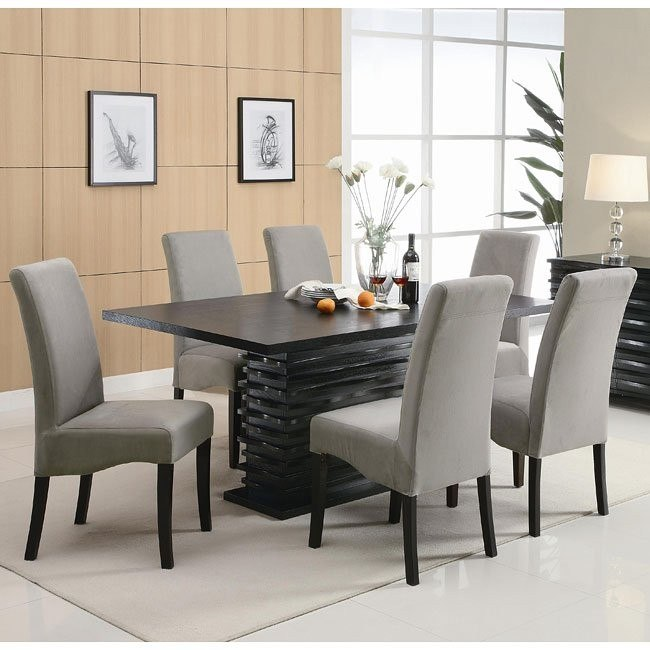 Stupendous Stanton Dining Room Set With Gray Chairs Home Interior And Landscaping Ologienasavecom