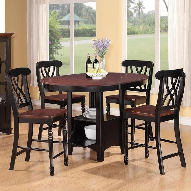 Addison Counter Height Dining Set (Black/ Cherry)