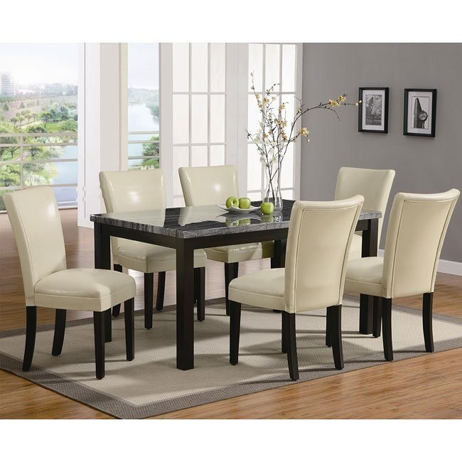 Outstanding Carter Dining Room Set With Cream Chairs By Coaster Home Interior And Landscaping Ologienasavecom