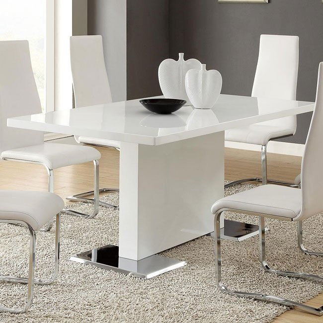 Modern White Dining Table