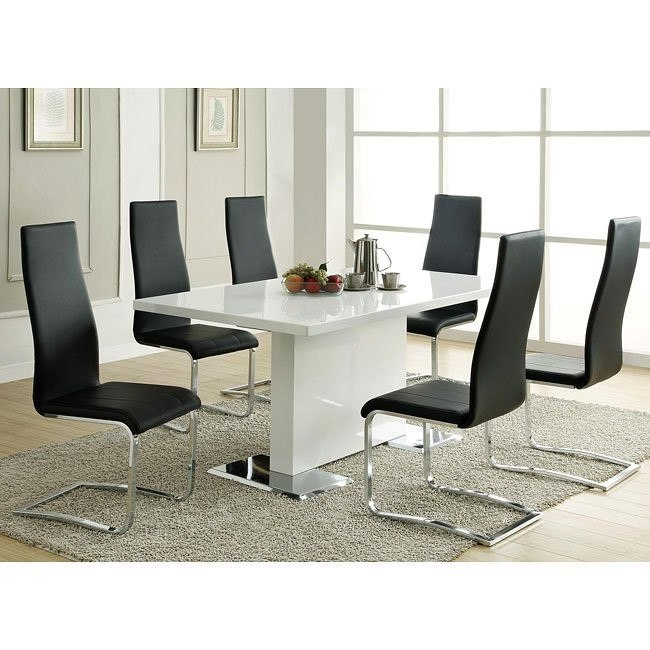 Modern Dining Room Set w/ Black Chairs