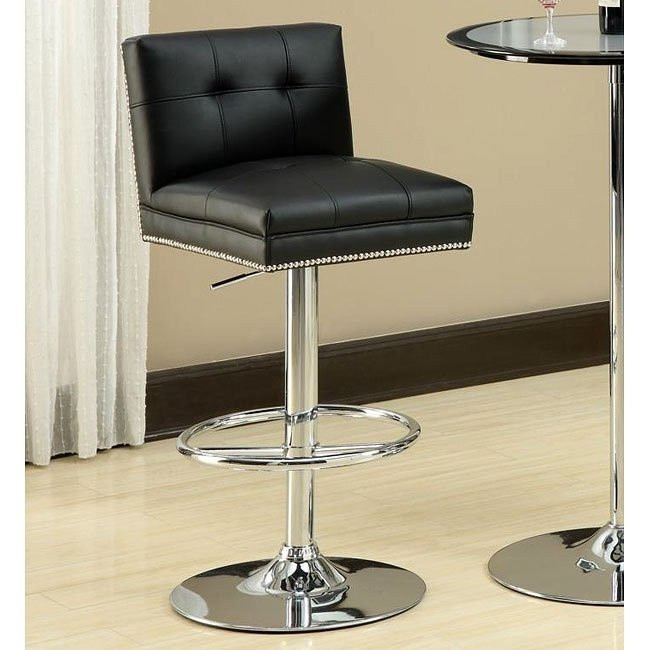 Retro 29 inch Adjustable Barstool (Black)