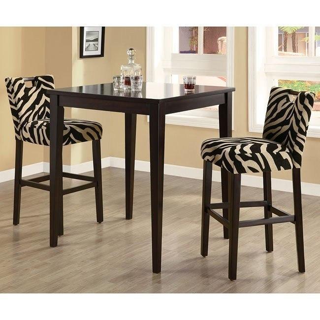 Zebra Cut Out Chairs Coaster Furniture