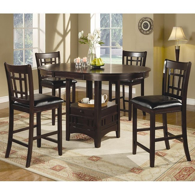Lavon Counter Height Dining Room Set (Cappuccino)