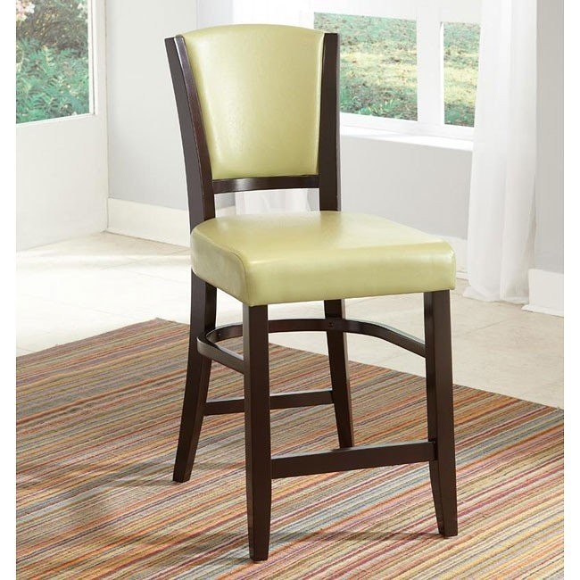 10368 Series Counter Height Stool (Green) (Set of 2)